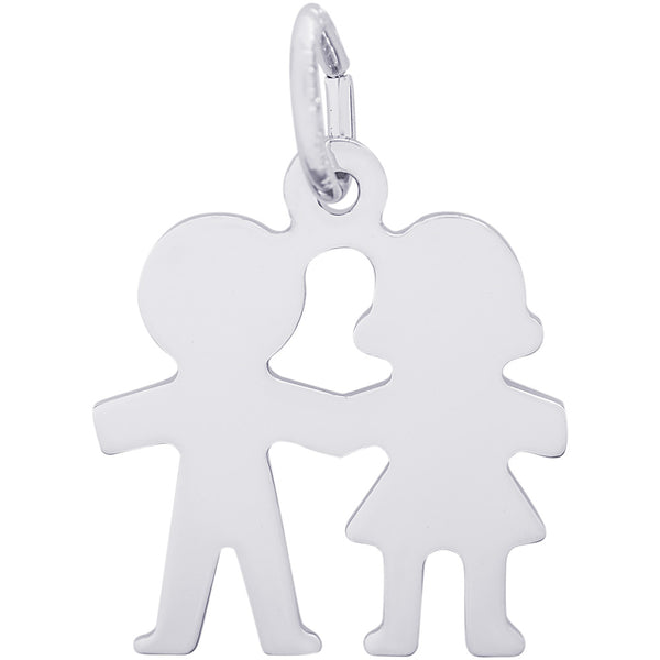 Boy & Girl Holding Hands Charm