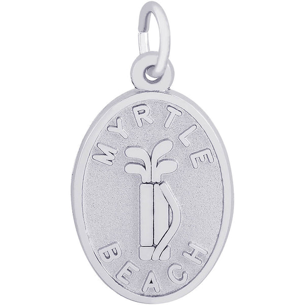 Myrtle Beach Golf Clubs Oval Disc Charm