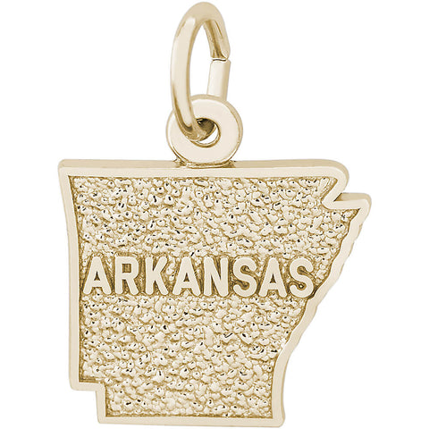 Arkansas Map Charm