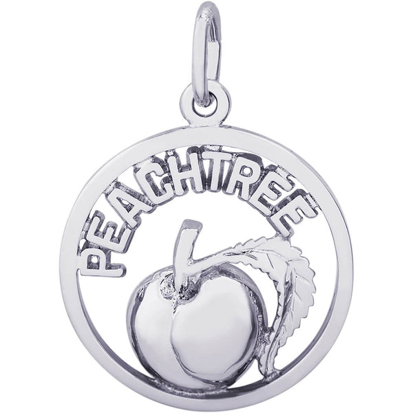 Peachtree Peach Open Disc Charm