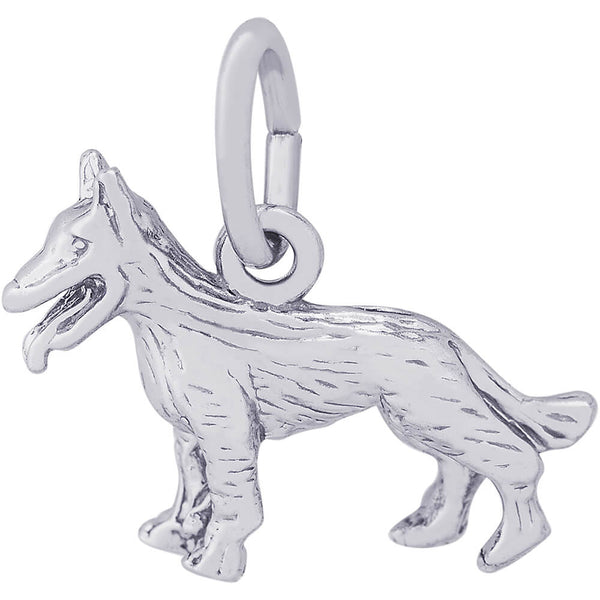 Small German Shepherd Dog Charm
