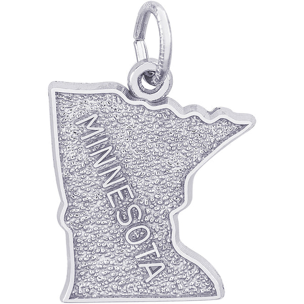 Minnesota Map Charm