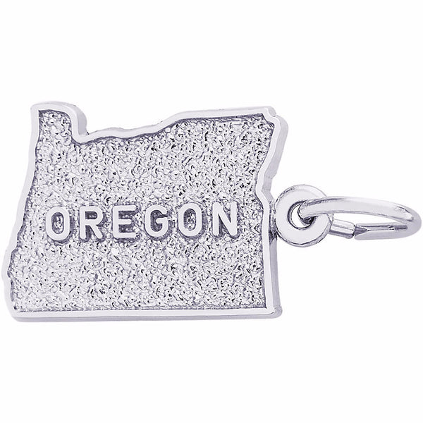 Oregon Map Charm