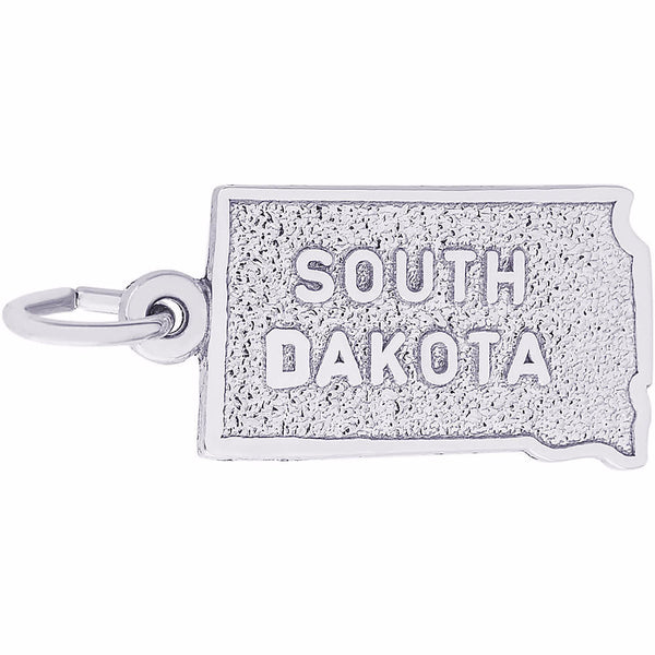 South Dakota Map Charm