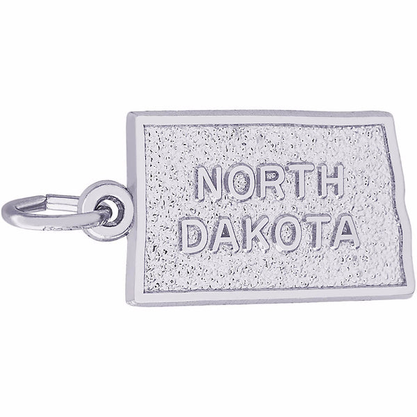North Dakota Map Charm