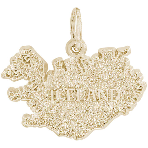 Iceland Map Charm