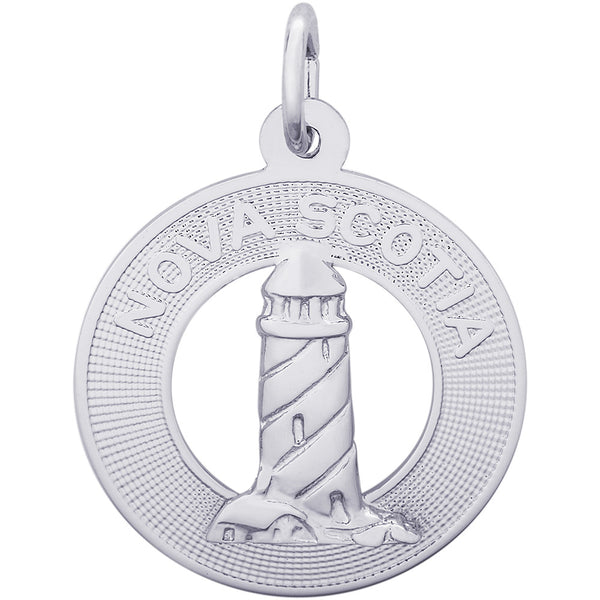 Nova Scotia Lighthouse Ring Charm