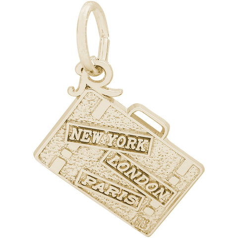 New York, London, Paris, Suitcase Charm