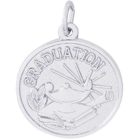 Graduation Lamp Of Learning Disc Charm