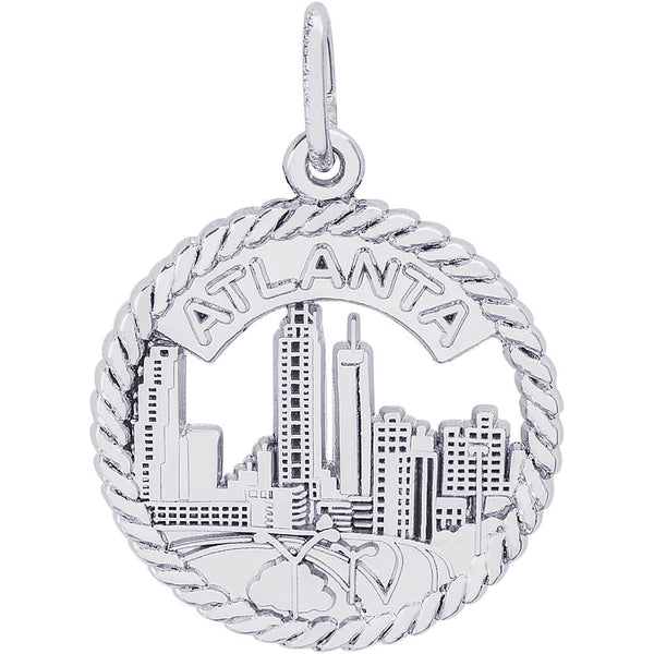 Atlanta Skyline Open Rope Disc Charm