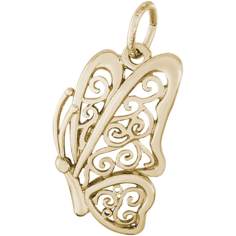 Filigree Butterfly Charm