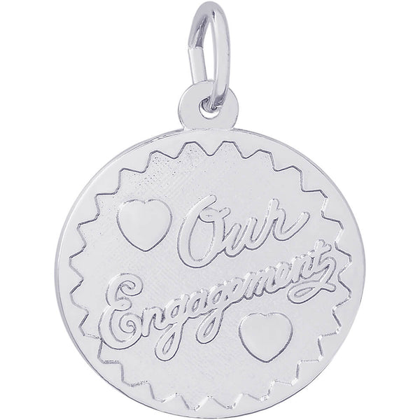 Our Engagement Disc Charm