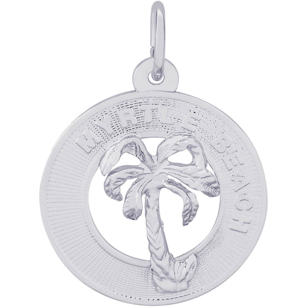 Myrtle Beach Palm Tree Ring Charm