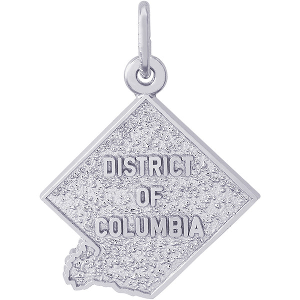 District of Columbia Map Charm
