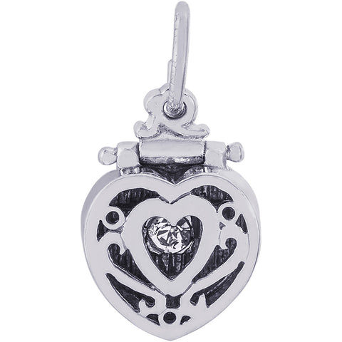 Heart Engagement Ring Box Charm