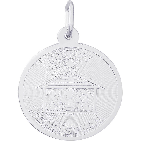 Merry Christmas Nativity Disc Charm
