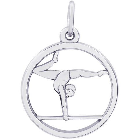 Gymnast On Balance Beam Charm