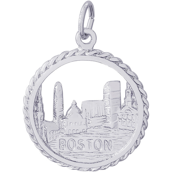 Boston Skyline Charm