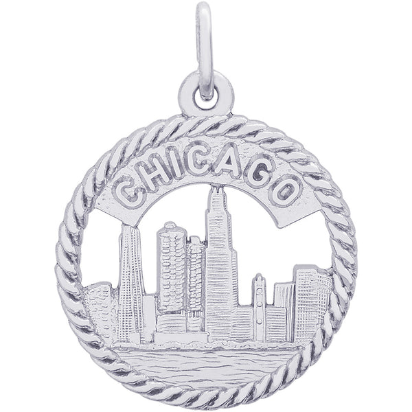 Chicago Skyline Charm