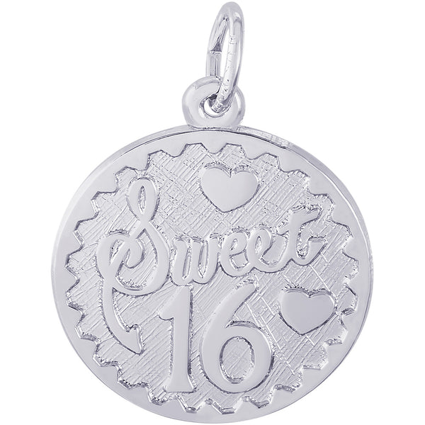 Sweet Sixteen Disc Charm