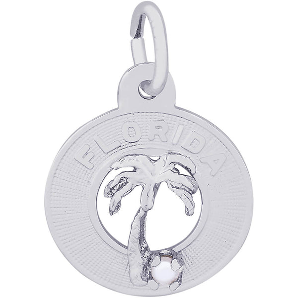 Small Florida Palm Tree Ring Charm