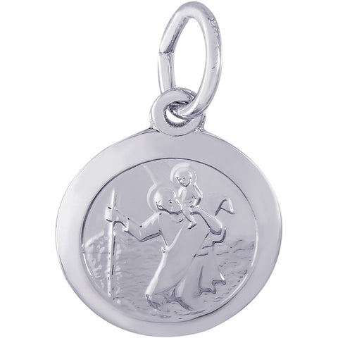 Small St. Christopher Disc Charm