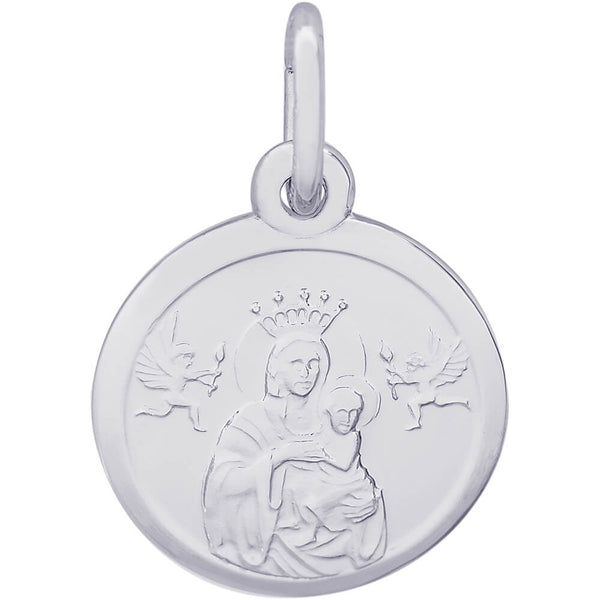 Madonna & Child Disc Accent Charm