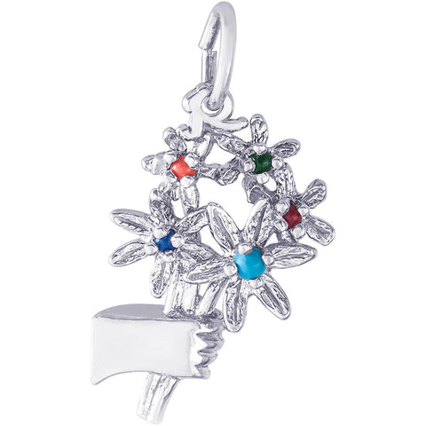 Bouquet Of Flowers Charm