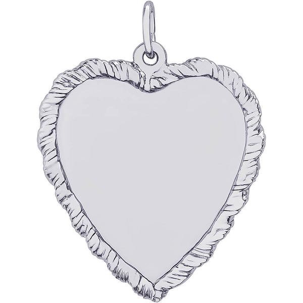 Large Classic Twisted Rope Heart Charm