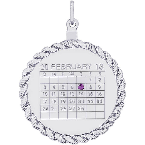 Calendar Twisted Rope Disc Charm