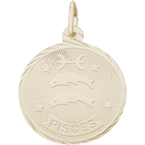 Pisces Constellation Disc Charm