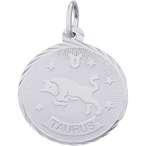 Taurus Constellation Disc Charm