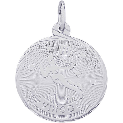Virgo Constellation Disc Charm