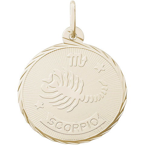 Scorpio Constellation Disc Charm