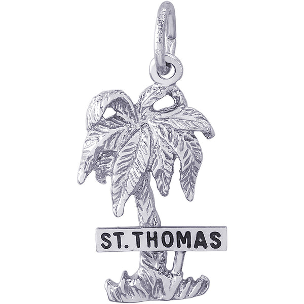 St. Thomas Palm Tree Charm