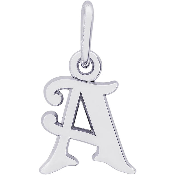 CURLY INITIAL A ACCENT - Rembrandt Charms
