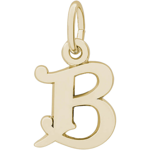 Curly Initial B Accent Charm