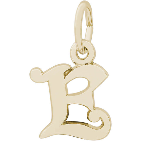 Curly Initial E Accent Charm