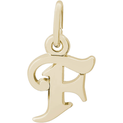Curly Initial F Accent Charm