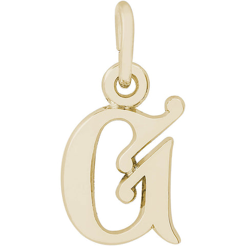Curly Initial G Accent Charm