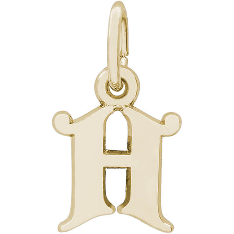 Blackletter Initial H Charm