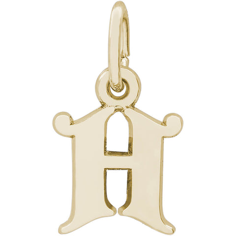 Curly Initial H Accent Charm