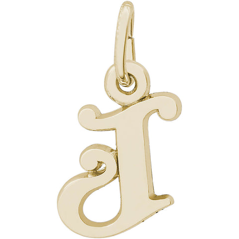 Curly Initial J Accent Charm