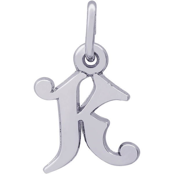 Curly Initial K Accent Charm