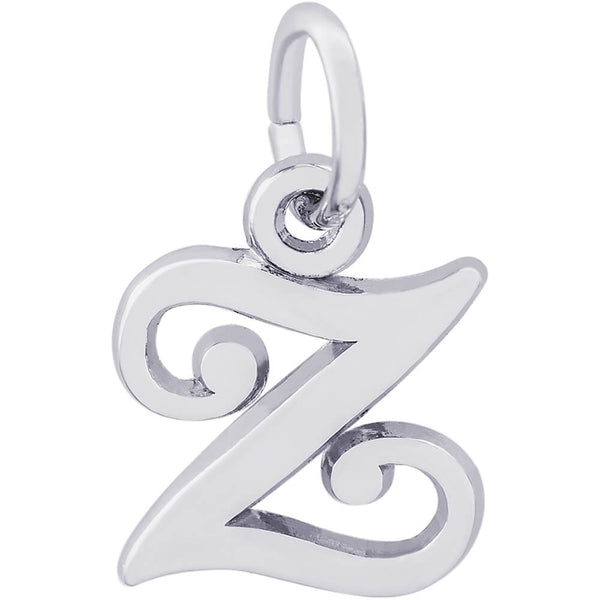 Curly Initial Z Accent Charm
