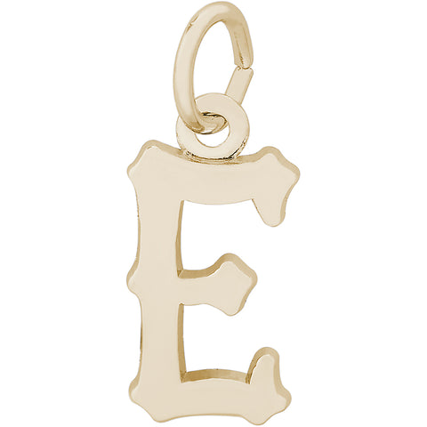 Blackletter Initial E Charm
