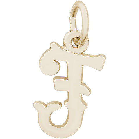 Blackletter Initial F Charm