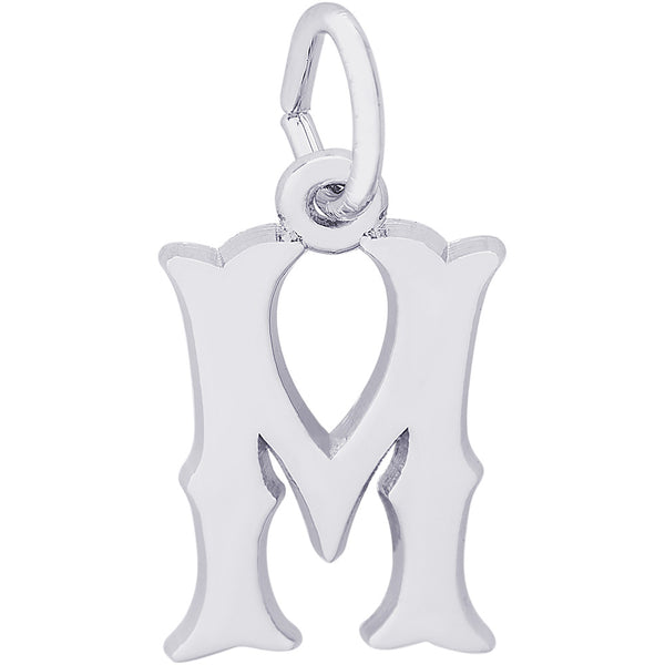 Blackletter Initial M Charm