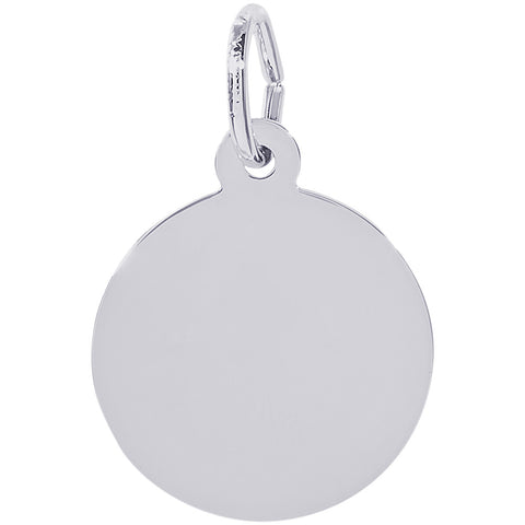 Extra Small Round Disc Charm