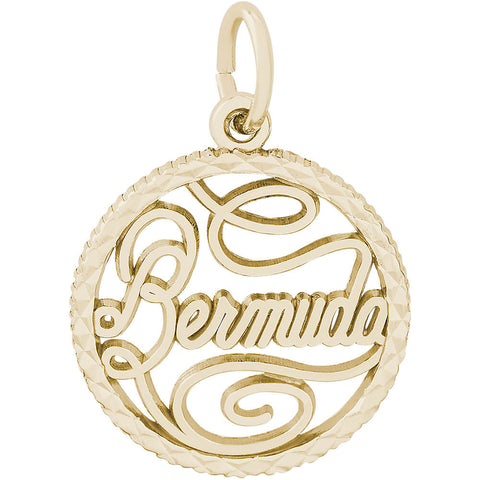Bermuda Diamond Faceted Disc Charm